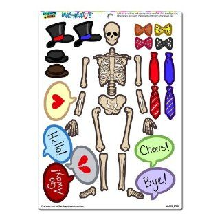 Graphics and More 'Human Skeleton Dress Up' Bones Anatomy Halloween Hats Ties Funny MAG NEATO'S Novelty Gift Paper Doll Locker Refrigerator Vinyl Magnet Set