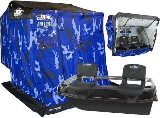 Otter Pro XT900 XTREME THERMAL Resort Package Ice House (Blue Camo)   2856  Fishing Ice Fishing Shelters  Sports & Outdoors