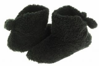 ISO By Isotoner Women's Comfort Soft Slipper Bootie Black Size5.6: Shoes