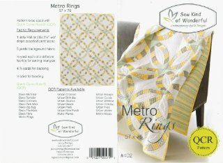 Metro Rings Modified Double Wedding Ring Quilt Pattern No. 402 By Sew Kind of Wonderful