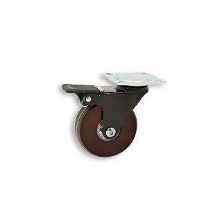 Cool Casters   Translucent Wheel Caster, Smoked Black Wheel Wheel, Chrome Yoke, Threaded Stem, No Brake   Item #370 75 WAL BL SP WB Industrial & Scientific