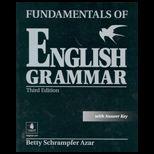 Fundamentals of English Grammar, with Answer Key