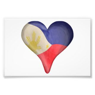 Philippine Flag In A Heart Art Photo