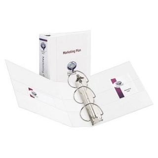 Avery Durable View Binder with Two Booster EZD Rings, 4 Capacity   White