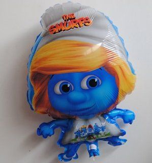 "PT0053 1 Cartoon Character Smurf Balloon, Girl Smurfette Balloon, 23"" Inch 58 cm Toys & Games"