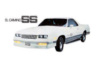 1984 1985 1986 1987 El Camino SS Super Sport Choo Choo Customs Decals Stripes Kit   SILVER Automotive