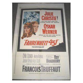 FAHRENHEIT 451 / ORIGINAL U.S. ONE SHEET MOVIE POSTER (JULIE CHRISTIE) JULIE CHRISTIE Entertainment Collectibles