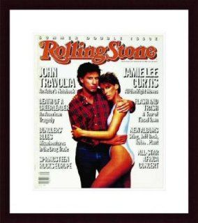 Rolling Stone Cover of John Travolta & Jaime Lee Curtis / Rolling Stone Magazine Vol. 452/453, July 18, 1985, Movie Print by Patrick Demarchelier   Unframed Prints