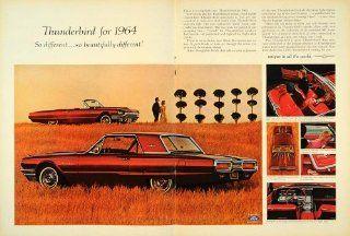 1963 Ad 1964 Thunderbird Ford Automobile Field Car Auto   Original Print Ad
