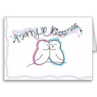 Merry Kissmas Greeting Cards