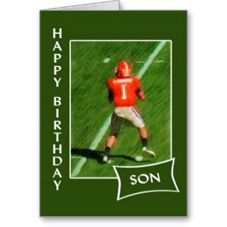 Football   Happy Birthday Son Cards