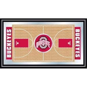 Trademark Ohio State Basketball 15 in. x 26 in. Black Wood Framed Mirror LRG1500BB OSU