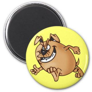 Running a Race Cartoon Dog Refrigerator Magnets