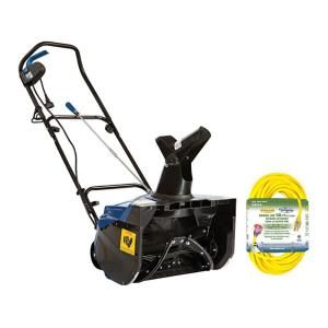 Snow Joe 18 in. 13.5 Amp Electric Snow Blower with Bonus 50 ft. Cord KIT SJ620 CVR