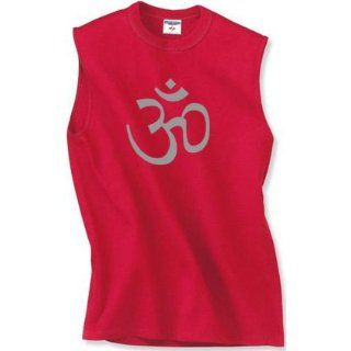 Mens Yoga Muscle T shirt   Aum Symbol Mens Sleeveless Tee Shirt: Clothing