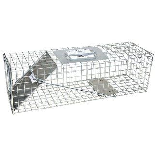 "JT Eaton 465 Answer Galvanized Steel Wire Single Door Professional Live Animal Cage Trap, 24"" Length x 7"" Width x 7"" Depth: Science Lab Cleaning Supplies: Industrial & Scientific"