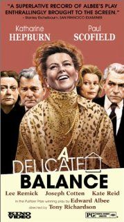 A Delicate Balance [VHS]: Katharine Hepburn, Paul Scofield, Lee Remick, Kate Reid, Joseph Cotten, Betsy Blair, David Watkin, Tony Richardson, John Victor Smith, Ely A. Landau, Robert A. Goldston, Edward Albee: Movies & TV