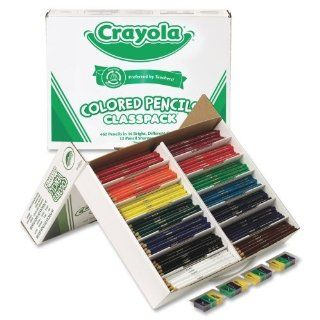 Wholesale CASE of 5   Crayola 462 Piece Class Pack Colored Pencils Crayola Colored Pencil Class Pack, 462/BX, 14 Ast  Calligraphy Pens