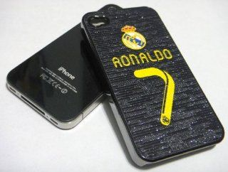 Soccer Football Hard Case for Apple iPhone 4 4G   Real Madrid 7 Ronaldo (Glamorous Dark Surface): Cell Phones & Accessories