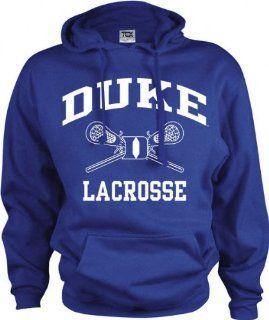 Duke Blue Devils Perennial Lacrosse Hooded Sweatshirt  Sports Fan Sweatshirts  Sports & Outdoors