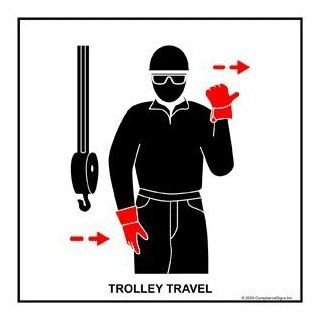 Trolley Travel Label CRANE 469 Crane Hand Signals : Business And Store Signs : Office Products