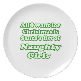 I want Santa's list of naughty girls Party Plates