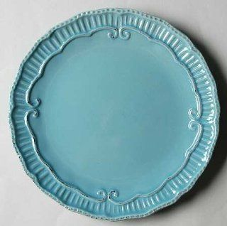 Home Accents Capri Aqua Salad Plate, Fine China Dinnerware: Kitchen & Dining