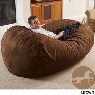 Christopher Knight Larson Faux Suede 8 foot Lounger Bean Bag Christopher Knight Home Bean & Lounge Bags