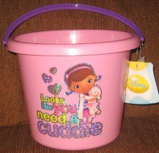 Disney Doc Mcstuffin Pink Easter Plastic Bucket Beach: Toys & Games