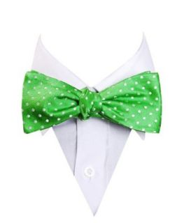 Green Circle Dots Pattern St. Patricks Day Silk Bow Tie at  Men�s Clothing store