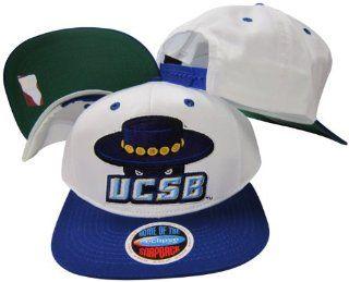 University of California Santa Barbara Gauchos Mascot White/Blue Two Tone Plastic Snapback Adjustable Plastic Snap Back Hat / Cap  Sports Fan Baseball Caps  Sports & Outdoors