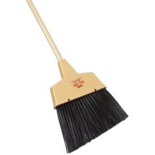 "Zephyr 34090 ""Stiff"" Big Qik Plastic Wide Angle Broom with Metal Handle, 13"" Head Width, 56"" Overall Length, Tan (Case of 6) Industrial & Scientific"