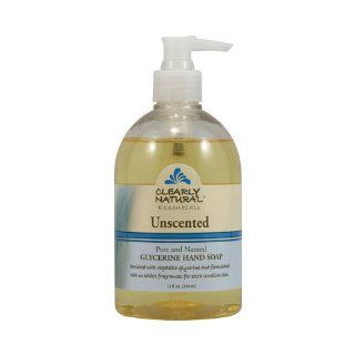 Clearly Natural Liquid Glycerine Soap with Pump Unscented 12 oz  Bath Soaps  Beauty