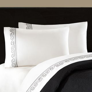 Artology 'Kalam' 300 Thread Count White Embroidered Sheet Set Sheets