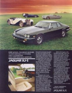 Jaguar XJ S grand touring coupe heritage ad 1980 Entertainment Collectibles