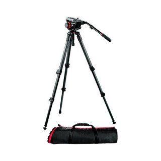 Manfrotto 504HD, 535K Video Tripod Kit with 504HD Head and 535 Carbon Fiber Tripod (Black)  Professional Video Tripods  Camera & Photo