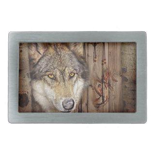 rustic native indian dream catcher wild wolf belt buckles