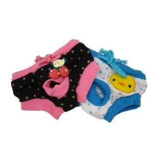 Alfie Pet Apparel   Zoe Diaper Dog Sanitary Pantie 2 Piece Set   Colors: Blue and Black, Size: M (for Girl Dogs) : Pet Dresses : Pet Supplies
