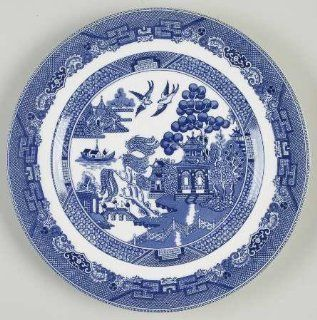 "Johnson Brothers Willow Blue (""England 1883"" Backstamp) Luncheon Plate, Fine China Dinnerware: Kitchen & Dining"