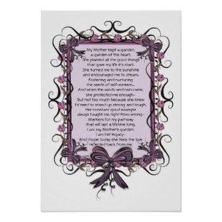 Floral Tulip framed Mothers Day Poem Print