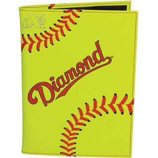 Diamond Baseball Themed Notebook   Size: 7x9, Yellow (NOTEBOOK B)