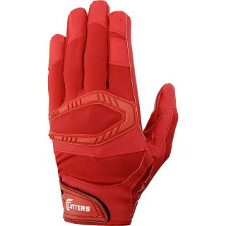 Cutters Rev Pro Solid Receiver Gloves Mens Football Sport Equipment Red