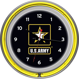 Trademark Global US Army Chrome Double Ring Neon Clock (ARMY1400)