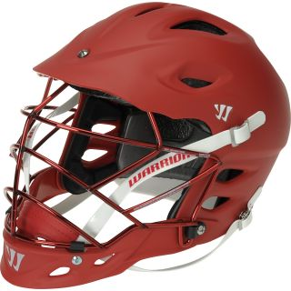 WARRIOR TII Matte Lacrosse Helmet, Red