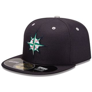 NEW ERA Mens Seattle Mariners Diamond Era 59FIFTY Tech BP Cap   Size: 7.375,