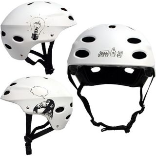 Atom Bright Idea Skateboard Helmet   Size: S/m, White (27205)