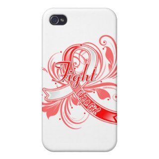 Aplastic Anemia Fight Like a Girl Flourish Cases For iPhone 4