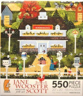 Jane Wooster Scott american folk art Aeries for Canaries 550 Piece Puzzle Toys & Games