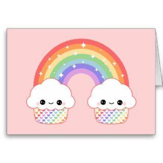 Kawaii Cupcake Rainbow Cards