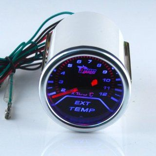 THG Universal Fit 55mm Super Bright LED Meter Car Auto Motor SUV Truck Automobile Mechanical Smoked EGT Gauge Automotive